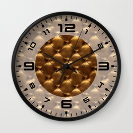 Opulent Tufted 2 Wall Clock