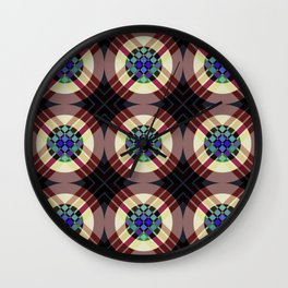Manawydan - Colorful Abstract Art Pattern Wall Clock