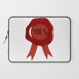 Wax Stamp 100 Percent Laptop Sleeve