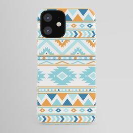 Orange andd Blue Boho Aztec Pattern iPhone Case