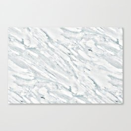 Real Marble Pattern - Swirly White and Gray Marble Canvas Print