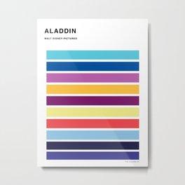 The colors of - Aladdin Metal Print