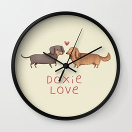 Doxie Love Wall Clock