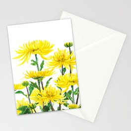 Yellow Chrysanthemums Stationery Cards