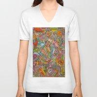 redhead V-neck T-shirts featuring Redhead by Kk307 Karyn Deveraux