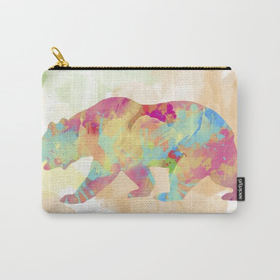 Abstract Bear Carry-All Pouch