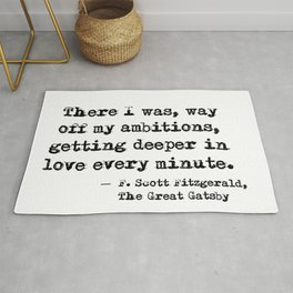 Deeper in love - F Scott Fitzgerald Rug