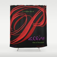 passion Shower Curtains featuring Passion by ZooLN Art