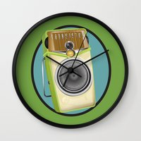 transistor Wall Clocks featuring Transistor Radio Flash Card by paper moon projects