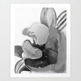 Burn The Flowers for Fuel Grey Art Print