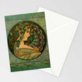 "Alphonse Mucha ""Ivy"" Stationery Cards"