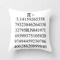 pi Throw Pillows featuring Pi by Anton Nikulin