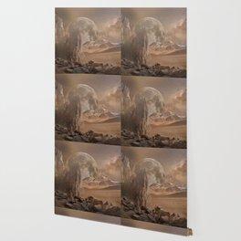 Mars Landscape (Futuristic Illustration) Wallpaper