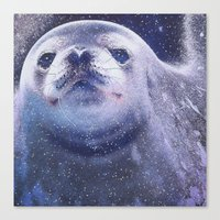 seal Canvas Prints featuring Seal by Asya Solo