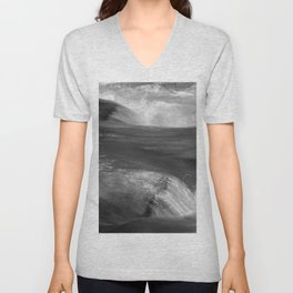 Never stop flowing.... Mountain river Unisex V-Neck