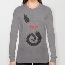 Mariachi Ronin Feathered Snake black Long Sleeve T-shirt