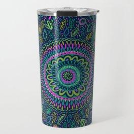Midnight Garden Mandala Travel Mug