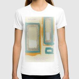 Soft And Bold Rothko Inspired - Modern Art - Teal Blue Orange Beige T-shirt