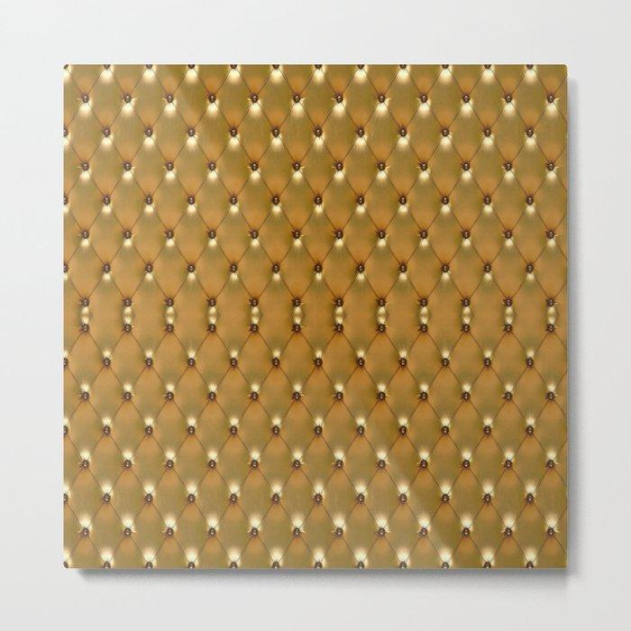 Luxury Golden Leather vector new design Metal Print