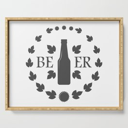 Bottle Craft Beer style Fashion Modern Design Print! Set Beer Pub Brewery Handcrafted Serving Tray