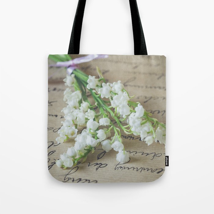 Love letter with lily of the valley Tote Bag