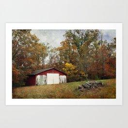 Cromwell Barn in Autumn Art Print