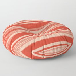 Red Abstract Linear Minimal Pattern Floor Pillow