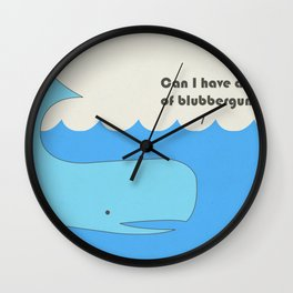 I must whale you Wall Clock