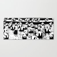 animal crew Canvas Prints featuring Crew by Panda Cool