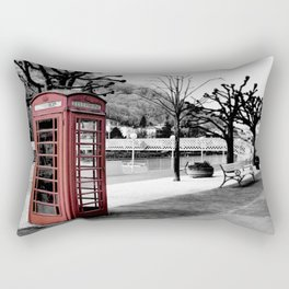 old English phone booth in colorkey Rectangular Pillow