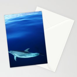 Dolphin, blue and sea Stationery Cards