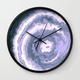 Gray Blue agate mineral gem stone Wall Clock