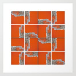 Wall Pattern Art Print