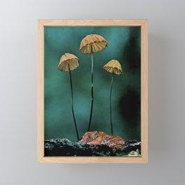 Resting Tigers (Fall edition) Framed Mini Art Print