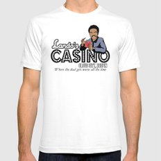 Lando's Casino SMALL White Mens Fitted Tee