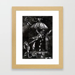 The Fasting Artist Framed Art Print