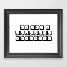 COMPUTER FREAK Framed Art Print