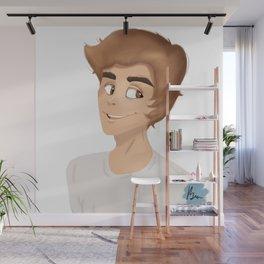 Drawing of Justin Wall Mural