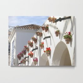 Nerja, main square, Spain Metal Print
