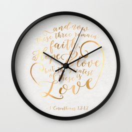 Faith, Hope & Love Wall Clock