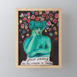 Just Waiting Framed Mini Art Print