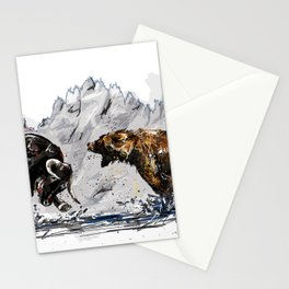 Bull and Bear Stationery Cards