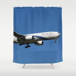 El Al Boeing 777 Shower Curtain