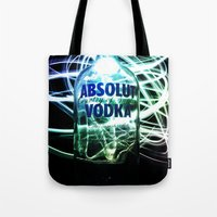 vodka Tote Bags featuring Absolut Vodka by Rothko