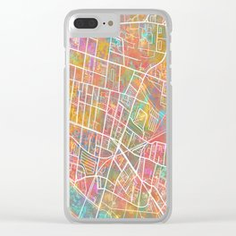 Streets of Glasgow - World Map Series Clear iPhone Case