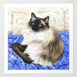 My Favourite Place Ragdoll Cat Art Print