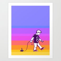 Growing Up 8bit Art Print