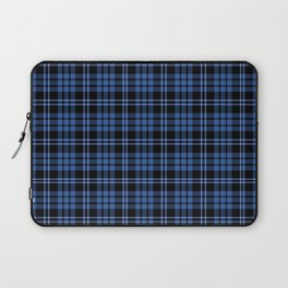 Blue & White Scottish Tartan Plaid Pattern Laptop Sleeve