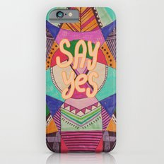 SAY YES Abstract 90's rave pattern iPhone 6s Slim Case