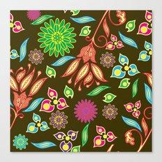 Bright Floral Fantasy Canvas Print
